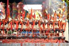 蜡烛农历新年庆祝 免版税库存图片