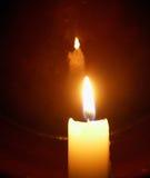 蜡烛反射 库存照片
