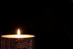 蜡烛发光 库存图片