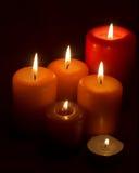 蜡烛发火焰 库存图片
