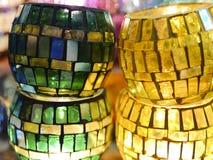 蜡烛台在盛大义卖市场 免版税库存照片