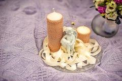 蜡烛和天使 免版税库存照片