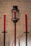 蜡烛和灯笼 库存图片
