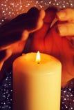 蜡烛和现有量 库存图片