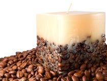 蜡烛咖啡 免版税图库摄影