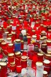 蜡烛哀悼 库存图片