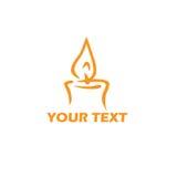 蜡烛商标模板 风格化传染媒介例证设计 向量例证