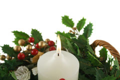 蜡烛圣诞节教会 库存图片