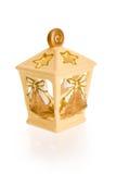 蜡烛圣诞节灯笼 免版税库存图片