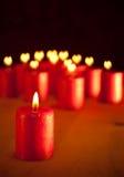 蜡烛圣诞节红色表 库存照片