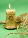 蜡烛圣诞节装饰 免版税库存照片