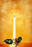 蜡烛圣诞节霍莉 免版税库存照片