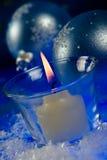 蜡烛圣诞节魔术 库存图片