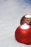 蜡烛圣诞节 免版税库存照片