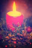 蜡烛圣诞节ligts 免版税库存照片