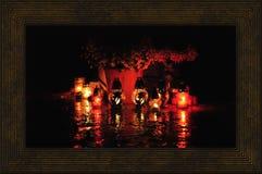 蜡烛在公墓 免版税库存照片