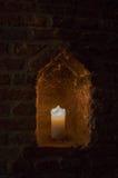 蜡烛在凹室 库存照片