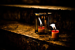 蜡烛在监狱 免版税图库摄影