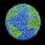 蜡烛地球例证 库存照片
