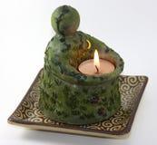 蜡烛地球 库存图片