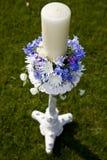 蜡烛婚礼 免版税库存照片