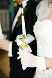 蜡烛婚礼 库存图片