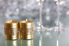蜡烛对 免版税图库摄影