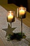 蜡烛对 免版税库存图片