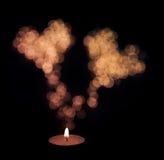 蜡烛心脏 免版税库存图片