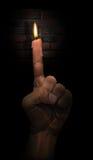 蜡烛手指 免版税库存照片