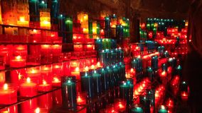 蜡烛教会宗教火火焰 影视素材