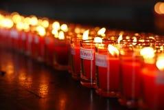 蜡烛杯子时运玻璃 免版税库存照片