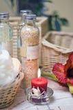 蜡烛构成温泉 库存照片