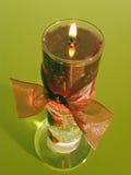 蜡烛查出的红色 免版税库存图片