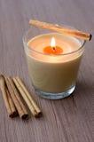蜡烛桂香玻璃 库存图片