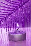 蜡烛欢乐新年度 免版税库存图片
