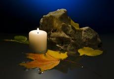 蜡烛水 免版税图库摄影
