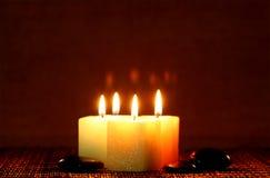 蜡烛河正方形石头 库存照片