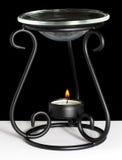 蜡烛油取暖器 免版税图库摄影