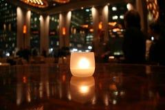 蜡烛浪漫表 库存图片