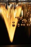 蜡烛浮动的反映 免版税库存照片