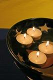 蜡烛浮动 库存图片