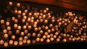 蜡烛海  免版税图库摄影