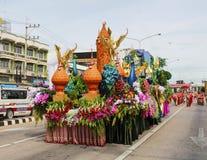 蜡烛游行, Suphanburi 免版税库存图片