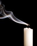 蜡烛烟 免版税库存照片