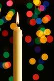 蜡烛照明光 库存图片