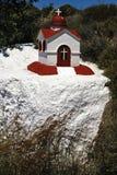 蜡烛照明设备的一件美好的象教堂,小规模复制品在Kos海岛 库存图片