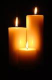 蜡烛照明 免版税图库摄影