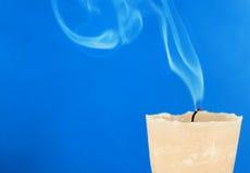 蜡烛熄灭了 免版税库存照片