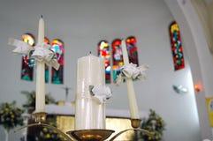 蜡烛爱 免版税库存图片